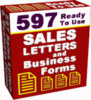 Thumbnail 597 Ready To Use Sales Letters & Business Forms