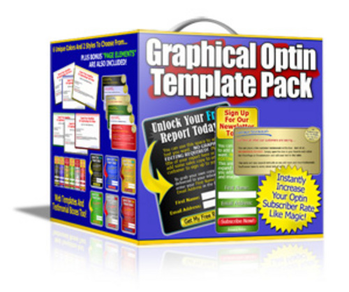 Product picture Graphical Optin Template Pack BUY ONE GET ONE FREE