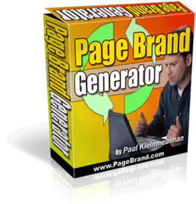 Product picture Page Brand Generator