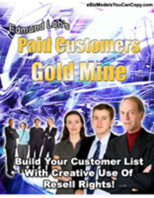 Product picture *NEW*   Paid Customers Goldmine   MASTER RESALE RIGHTS ( Bargain Hunter Warehouse )